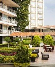 Pátio Hotel Krystal Satélite María Bárbara Tlalnepantla de Baz