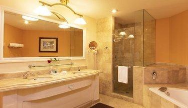 Casa de banho quarto jr. suite Hotel Krystal Satélite María Bárbara Tlalnepantla de Baz