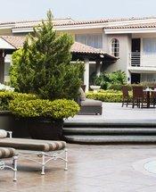 Área da piscina Hotel Krystal Satélite María Bárbara Tlalnepantla de Baz